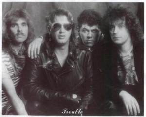 Trouble (Left to Right) Mike Cochrane, Paul Mitchel, Faldo, Michael Fennelly